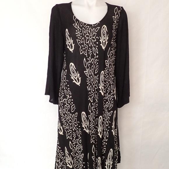 JESSICA TAYLOR Plus Size Flowy Flare Patio Dress
